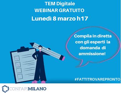 Iscriviti al webinar sul TEM Digitale!