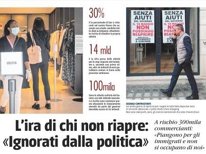 300mila commercianti a rischio. Il commento di Confapi Milano su Il Giornale
