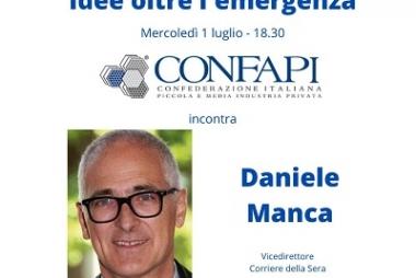 1° luglio, appuntamento su Zoom con Daniele Manca per parlare di ripartenza