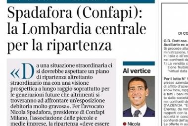 L'Avv. Spadafora parla di ripartenza sul Corriere della Sera